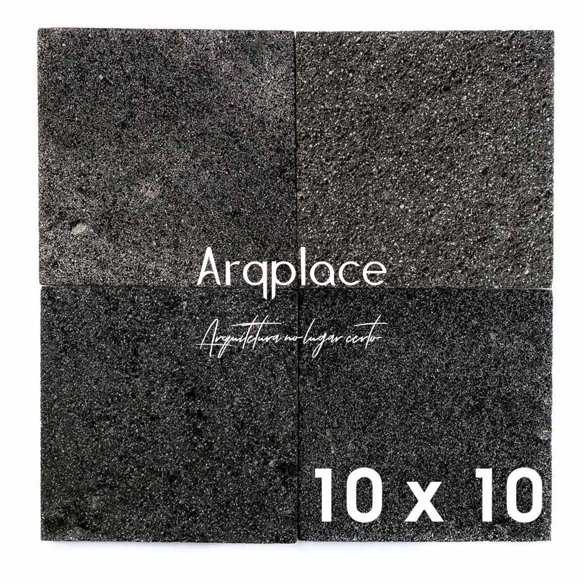 Pedra Hitam Lisa 10 x 10 cm