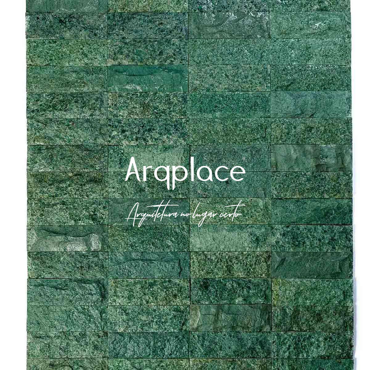 Revestimento Brick Hijau Bruto 7,5 x 23 cm