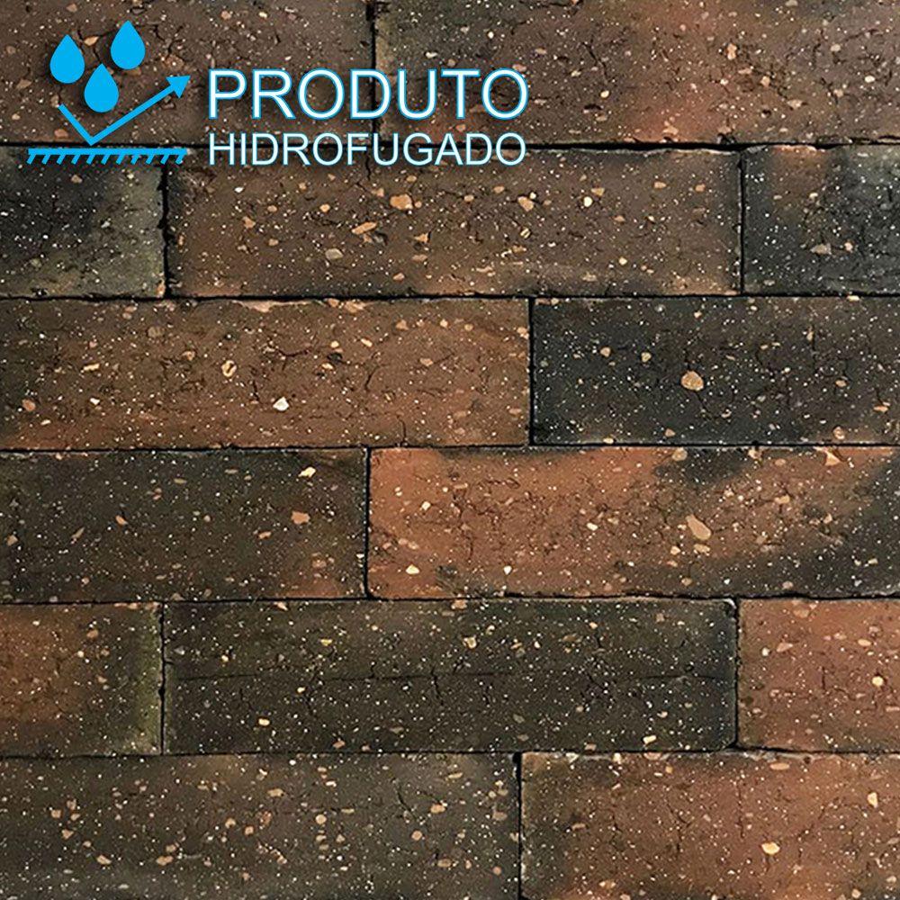 Revestimento Tijolinho Brick - Coleção Londres Fumê 6,6 x 24,7cm