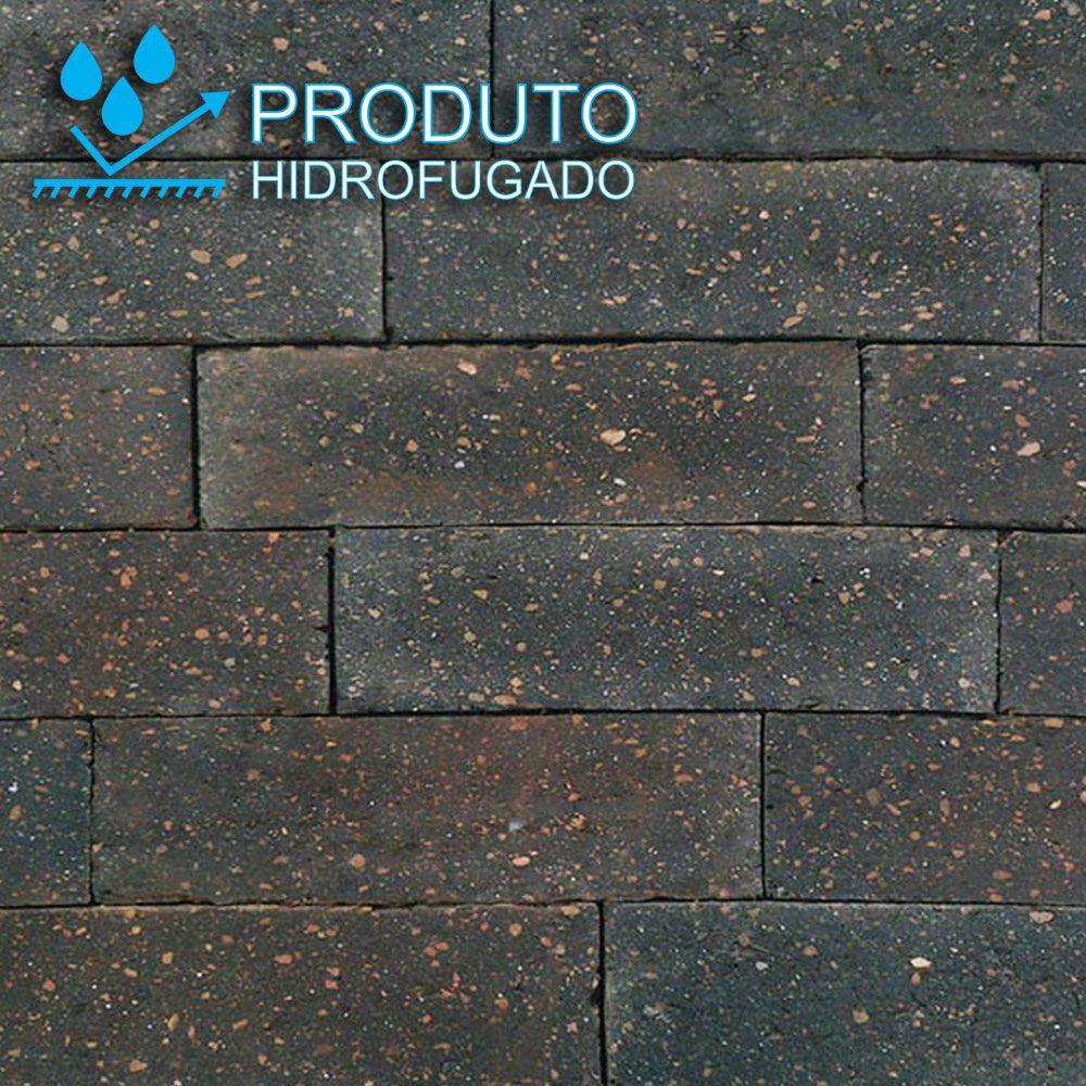 Revestimento Tijolinho Brick - Coleção Londres Negro 6,6 x 24,7cm