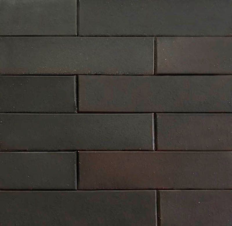 Revestimento Tijolinho Brick - Coleção Soho Negro 7 x 30cm