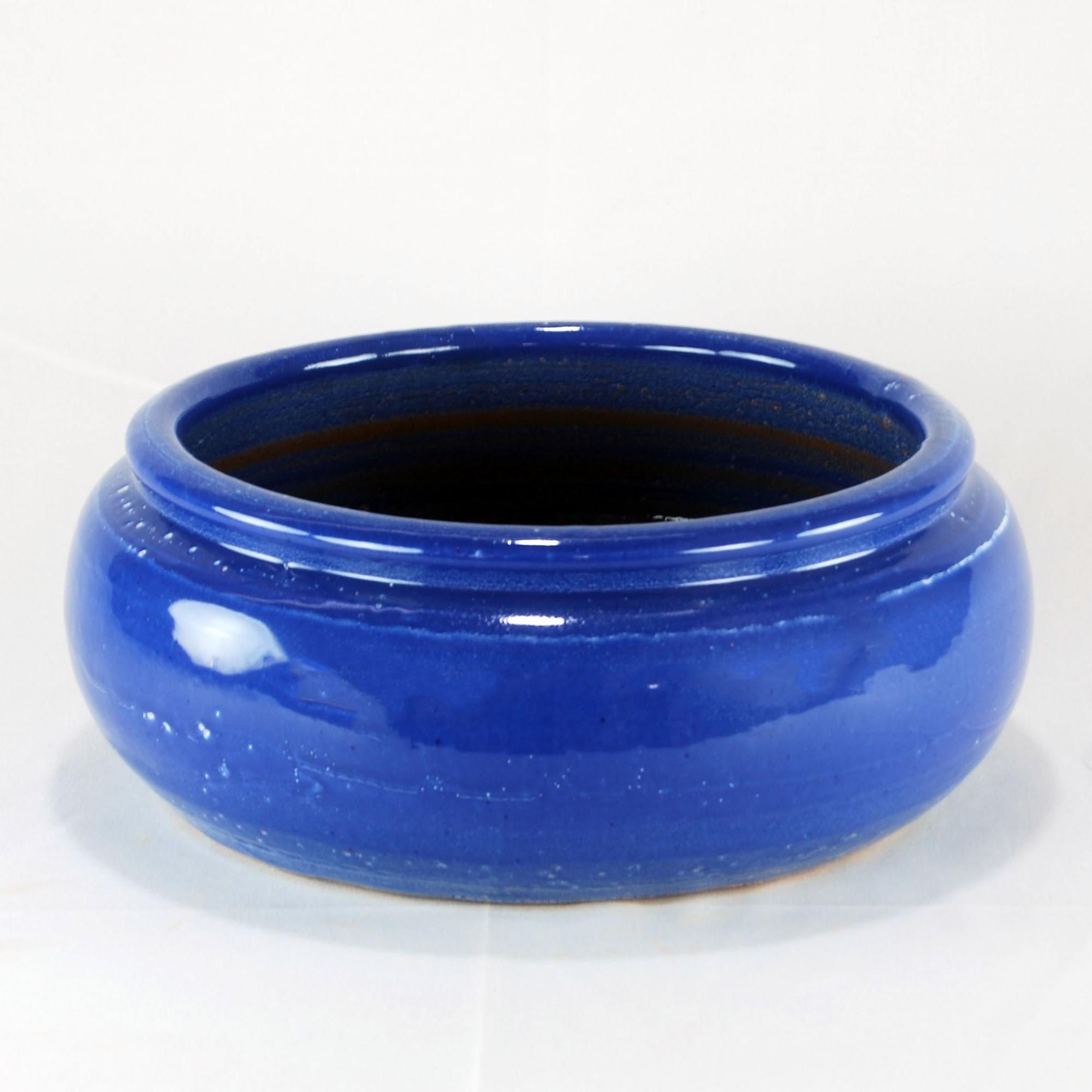 Vaso Esmaltado Bacia Borda - M - Azul Real
