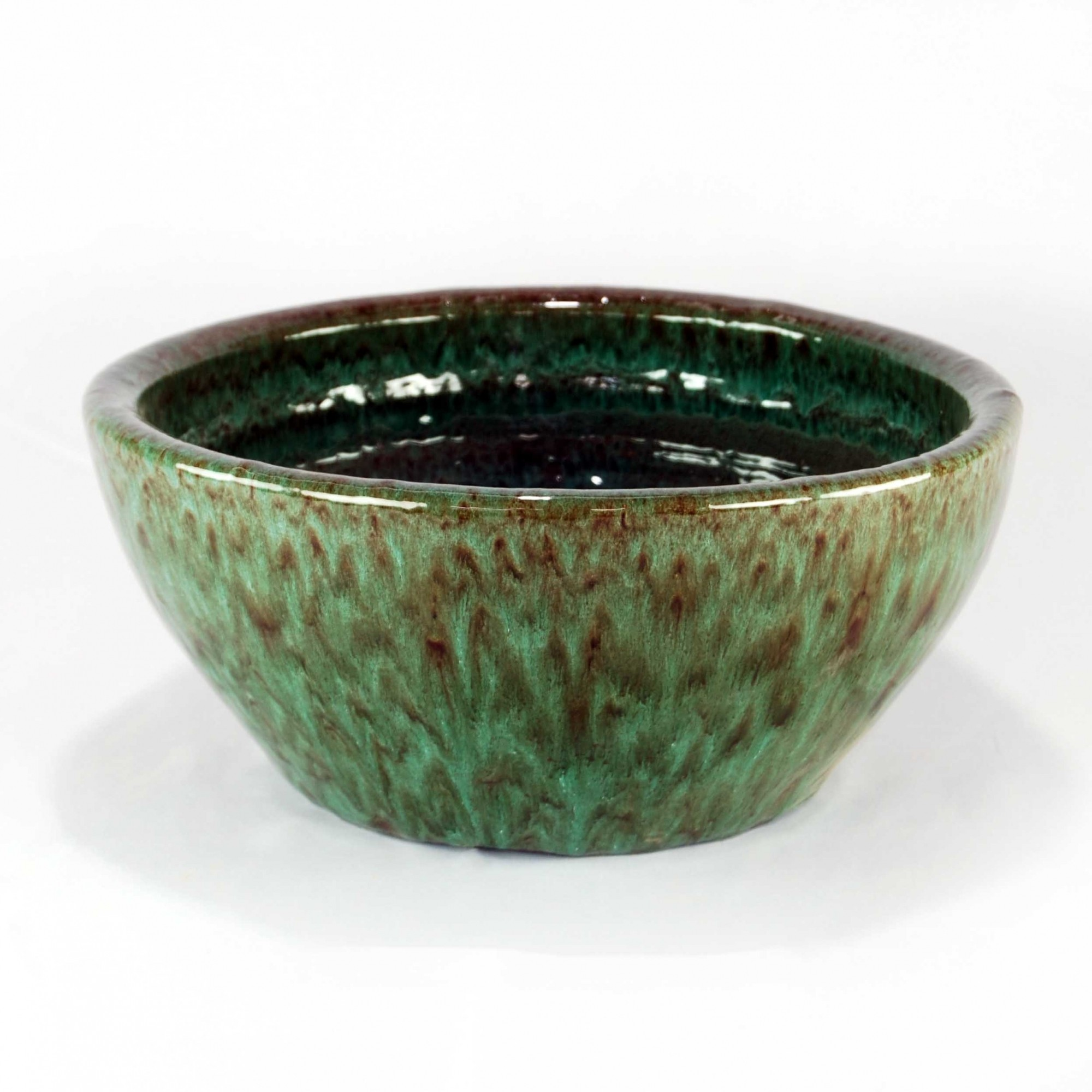 Vaso Esmaltado Bacia Lisa - GG - Verde Musgo