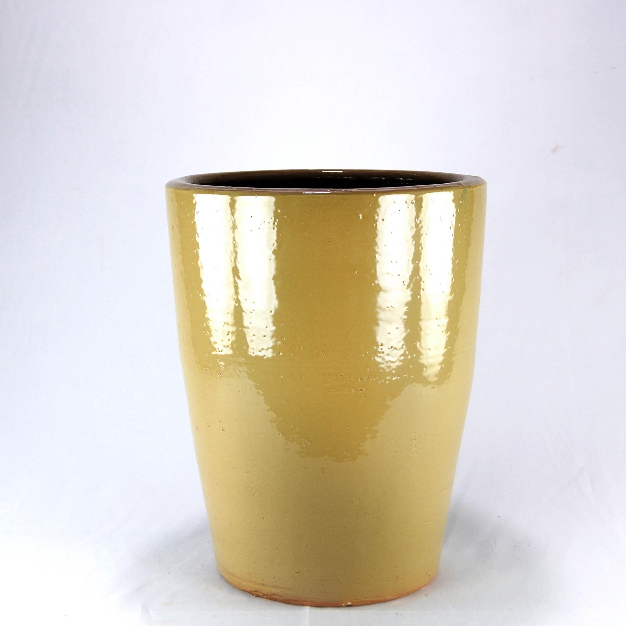 Vaso Esmaltado Cone - 50 cm - Bege Saara