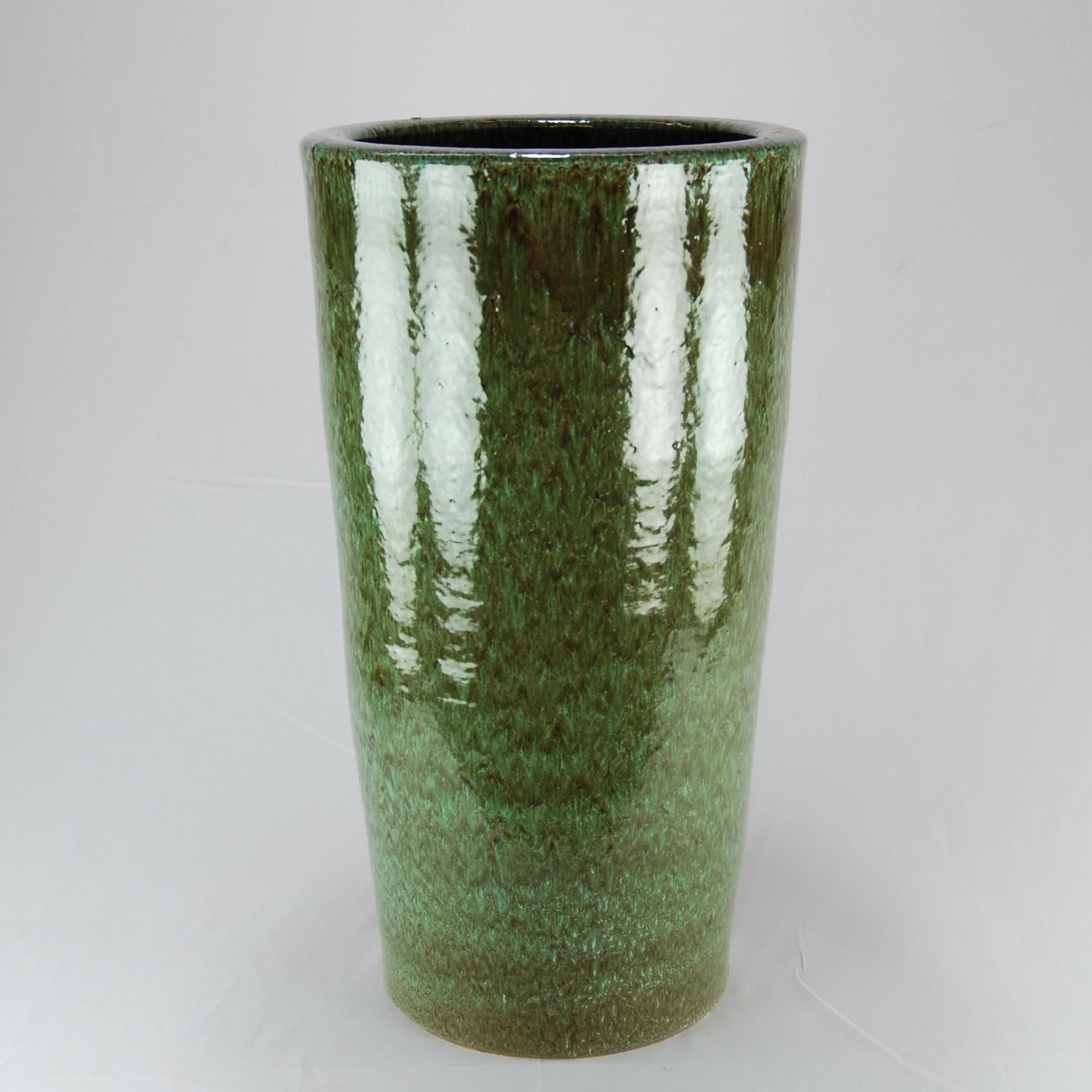 Vaso Esmaltado Cone - 70 cm - Verde Cobra