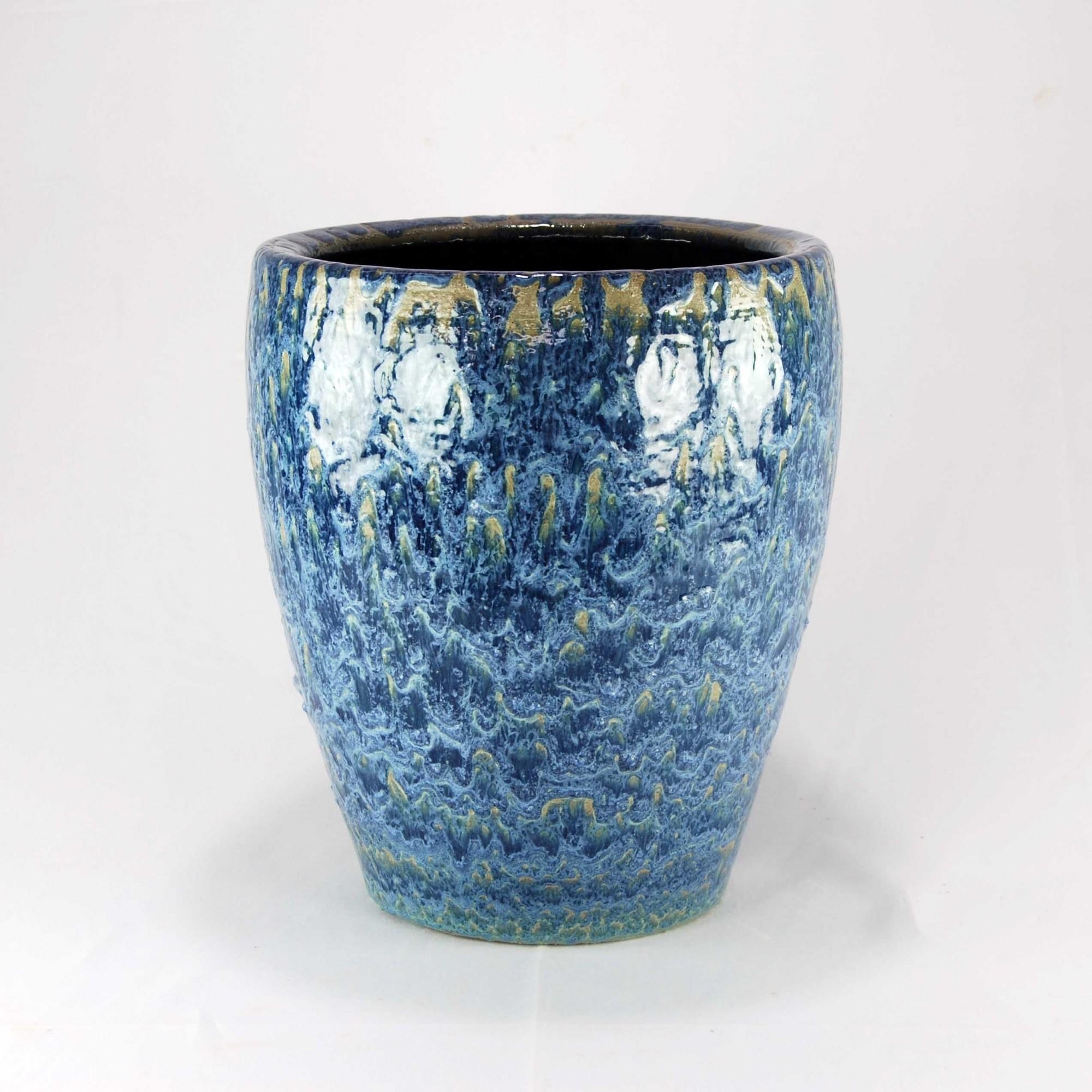 Vaso Esmaltado Egg - M - Azul del Mar