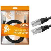 CABO DE REDE PATCH CORD CAT6 RJ45 2 METROS - PR