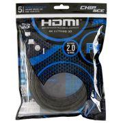Cabo HDMI 2.0 4K HDR 19 Pinos 5MT PIX