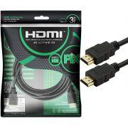 Cabo HDMI PIX 2.0 4K HDR 19 Pinos 3MT