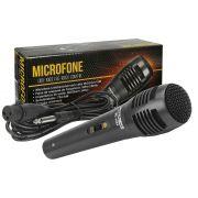 Microfone Unidirecional Com Fio Preto SC 1003