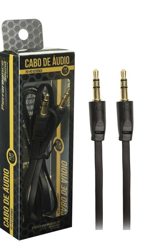 CABO P2 + P2 STEREO FLAT 1,2 MT - PTO