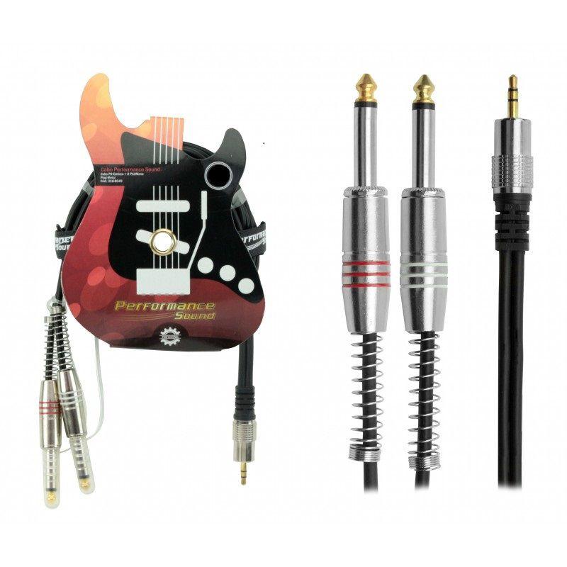 CABO P2 ST X 2 P10 Mono 2mt Performance Sound