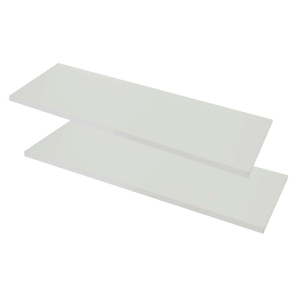 Prateleira MDP Kit 2 pç 20 X 90 cm c/ Suporte Multivisão