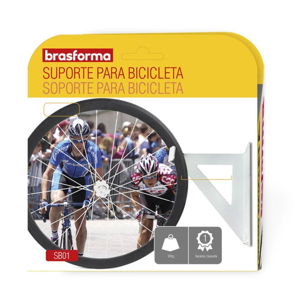 Suporte para bicicleta fixação teto ou parede SB01 Brasforma