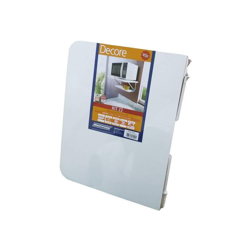 Suporte para Microondas 2 prateleiras Kit Z2-UV-BR Multivisão