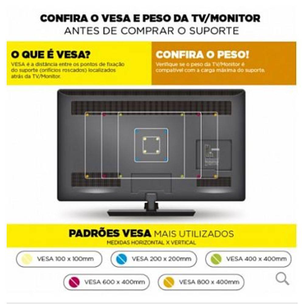 Suporte Tv Articulado EM02V4 ELG até 55 LED / 4K