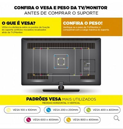Suporte Tv Fixo de 32 a 56 HDF40 Multivisão