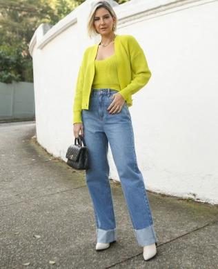 Calca Jeans Cintura Alta Unique Chic