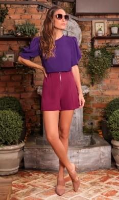 Shorts Alfaiataria com Detalhe de Elastico na Cintura e Ziper Donna Ritz
