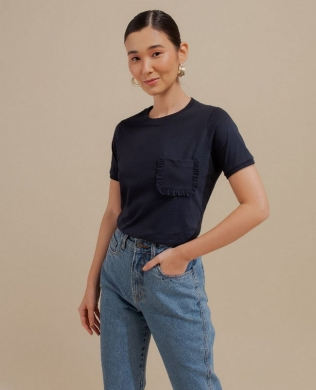Tshirt Basica com Bolso Unique  Chic