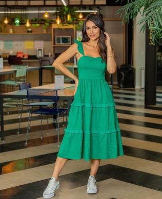 Vestido em Laise com Decote Coracao Donna Ritz