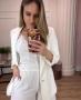 Blazer Alfaiataria Boyfriend com Martigale Donna Ritz