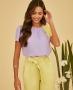 Blusa Basica em Crepe com Detalhe Bicolor Unique Chic