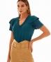 Blusa Basica em Malha com Decote V Unique Chic