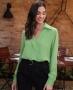Blusa Cropped com Decote Transpassado Donna Ritz