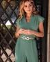 Blusa Cropped com Pregas Donna Ritz