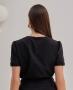 Blusa Cropped em Alfaiataria Unique Chic