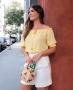 Blusa Cropped Ombro a Ombro com Tassel Donna Ritz