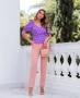 Blusa de Poas com Decote Princesa Doce Flor