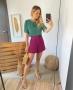 Blusa Decote Redondo com Aplicacao de Renda Donna Ritz