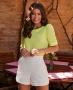 Blusa em Crepe com Decote Canoa Donna Ritz