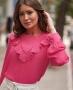 Blusa em Crepe com Detalhe em Laise Donna Ritz