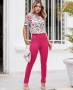 Blusa em Crepe com Estampa Floral Donna Ritz