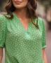 Blusa em Crepe com Mini Poas Donna Ritz