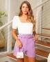 Blusa em Malha Canelada com Decote Quadrado Milalai