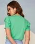Blusa em Malha Visco com Babado Unique Chic