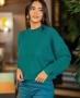 Blusa em Tricot com Gola Careca e Modelagem Ampla