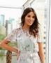 Blusa Floral com Detalhe de Renda Doce Flor