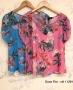 Blusa Floral com Pregas na Manga Doce Flor