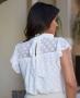 Blusa Gola Alta com Textura de Poas Doce Flor