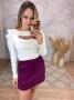 Blusa Malha + Shorts Saia