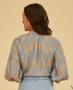 Blusa Raglan Estampada em Crepe Unique Chic