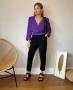 Calca em Alfaiataria Leve com Martingale Donna Ritz_1