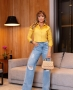 Calca Jeans Wide Leg com Rasgo Milalai