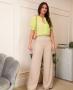 Calca Pantalona em Alfaiataria Donna Ritz