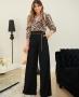 Calca Pantalona em Crepe Twill Donna Ritz